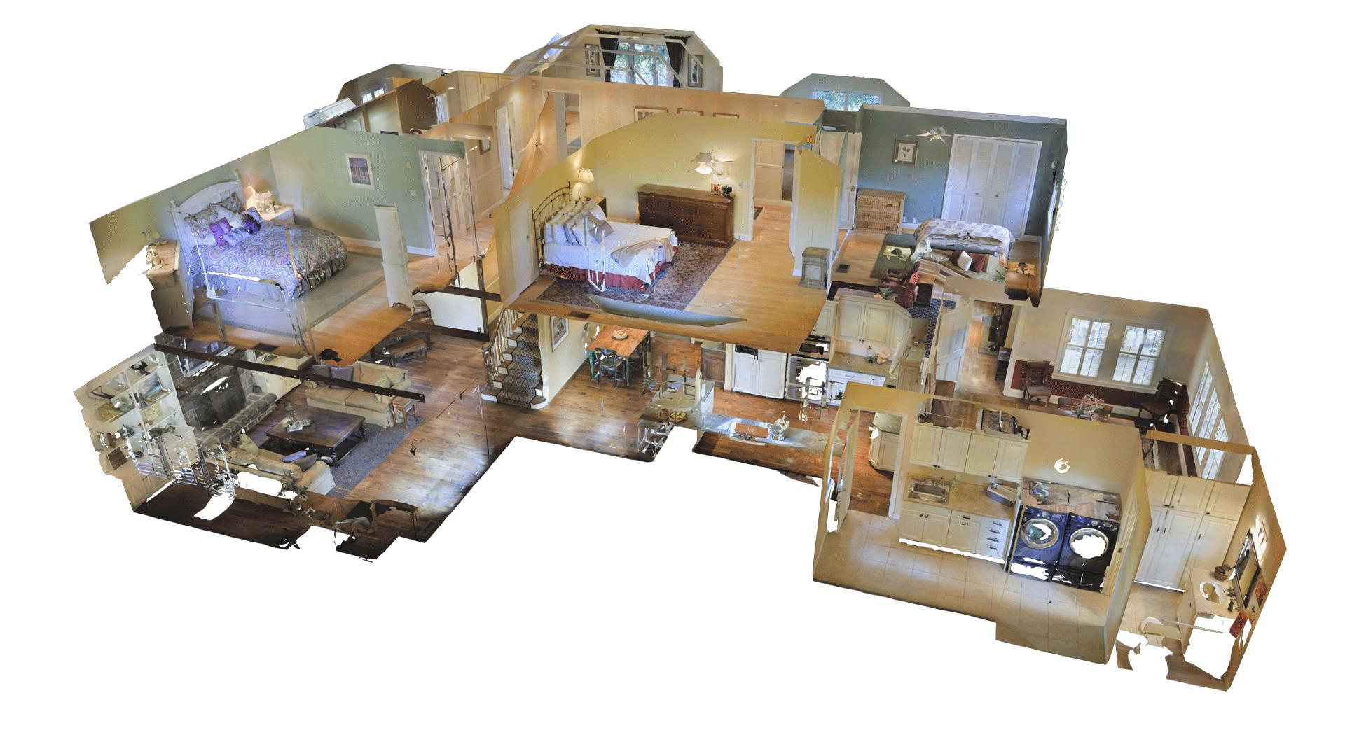 3D dollhouse view